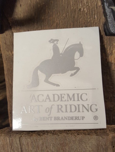 "Sticker ""Academic Art of Riding"" by Bent Branderup ®"